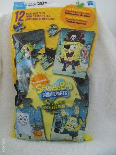 SpongeBob Squarepants Hasbro Set 12 Mini Puzzles.