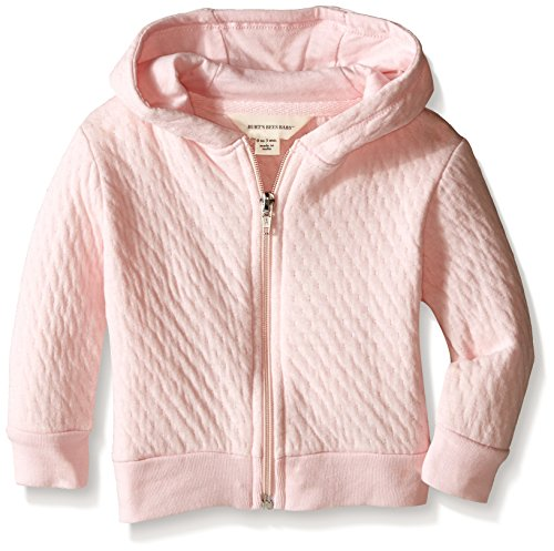 Burt's Bees Baby Baby Quilted Organic Zip Hoodie, Blossom, 0-3 Months
