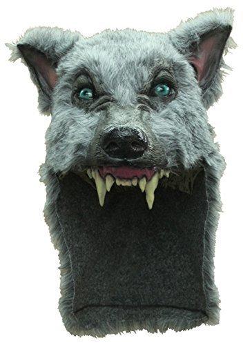 Grey Gray Wolf Animal Head Helmet Mask Latex Latex and Fur Halloween