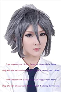 NEW Fashion HOT sexy Gray Grey Curly Anime cosplay wigs party Masquerade girls 30CM