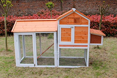 Large Outdoor Chicken House/Coop with Nesting Box- 83 inch Excellent Finishing Hen Cage with Anti-water Roof- Well Protected- Easy to Open and Clean (Chicken Houses And Pens compare prices)