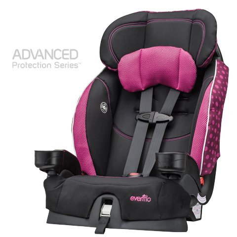 evenflo chase lx harnessed booster car seat tonal hearts dealtrend. Black Bedroom Furniture Sets. Home Design Ideas