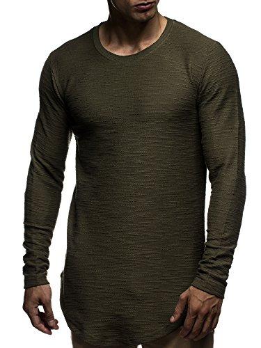 leif-nelson-herren-oversize-sweatshirt-hoodie-hoody-ln6298-grse-s-khaki