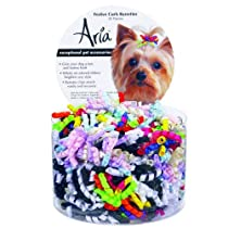Aria Satin Ribbon Festive Curls 2-1/2-Inch Barrettes Canisters 45-Pack Assorted