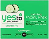 Yes To Calming Facial Mask, Cucumber, 1.7 Fluid Ounce