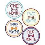 Lollipop Labels Baby Boy Bow Tie Monthly Onesie Stickers - Baby Photo Prop - Newborn Sticker - Bodysuit Stickers...