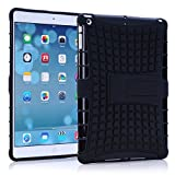 Vogue Shop Ipad Air Case, Ipad Air Case Cover - Ipad 5 Shock-absorption / Impact Resistant Hybrid Dual Layer Armor Defender Protective Case Cover with Built-in Kickstand for Apple Ipad Air 5th Gen 2013 (Three Month Warranty) (Gift for Screen Protector Film and Clean Cloth) (ipad air black)