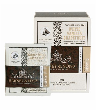 Harney And Sons White Vanilla Grapefruit Tea, 20 Count