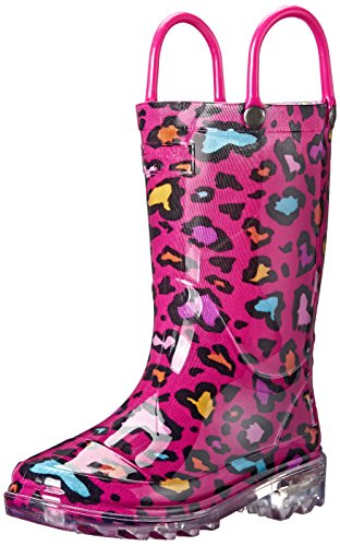 Western-Chief-Kids-Cutie-Leopard-Light-Up-Rain-Boot-ToddlerLittle-KidBig-Kid