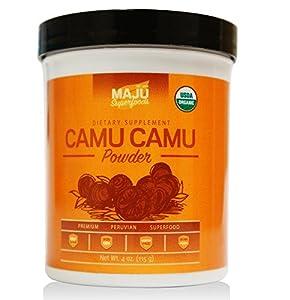 Organic Camu Camu Powder (39 Servings): Guaranteed Purest Source of Camu Camu, 100% Raw, USDA Organic, Packaged in USA by Maju Superfoods