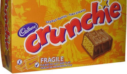 Cadbury Crunchie 24 bars milk chocolate bar with a honeycombed sugar centre over 2 pounds from Canada
