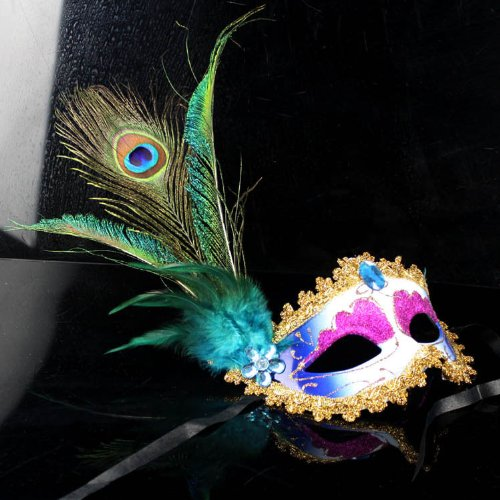 Venice exquisite beauty of the lady princess yellow Half Face Mask dance parties