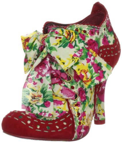 Irregular Choice Women's Abigail's Party Red/Cream Booties Heels 3081-4AG 5 UK, 38 EU