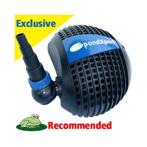 Pondpush 3200 garden pond pump for pond filters waterfalls for Outdoor fish pond filters and pumps