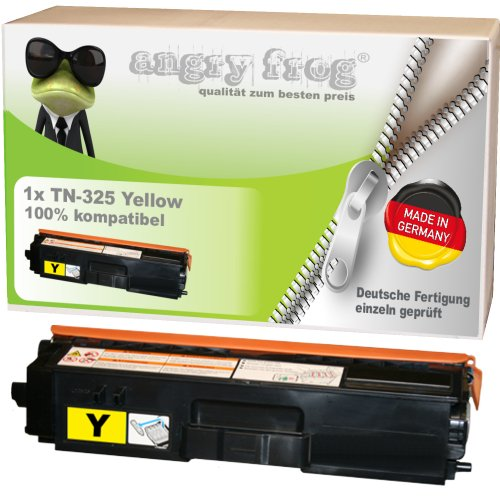Yellow Toner made in Germany ersetzt BROTHER TN325 BK/ C/ M/ Y - für BROTHER DCP 9055 CDN, DCP 9270 CDN, HL 4140 CN, HL 4150 CDN, HL 4570 CDW, HL 4570 CDWT, MFC 9460 CDN, MFC 9465 CDN, BROTHER MFC 9970 CDW