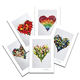Love - Sea Glass Hearts Postcard Prints. Variety Pack Number Three. 2 each of 5. 4x6 Best for Birthday Cards, Thank You Notes & Invitations. Unique Christmas & Valentine\'s Day Gifts