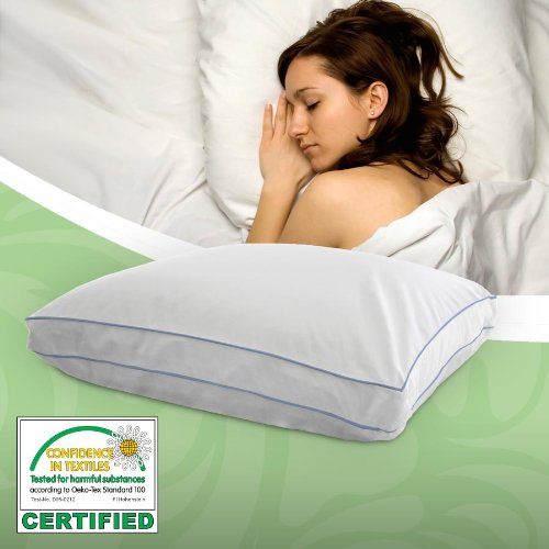 Utopia Adjustable Memory Foam Pillow w/ Siberian White Goose Down, Standard/Queen Size