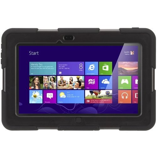 Griffin Dell XPS 10 Tablet Protective Case with Stand, Survivor All-Terrain, [Black] [Rugged] [Silicone and Polycarbonate] [Sealed Ports] [Built-in Display Shield]