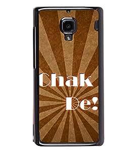 Chak De 2D Hard Polycarbonate Designer Back Case Cover for Xiaomi Redmi 1S :: Xiaomi Redmi 1