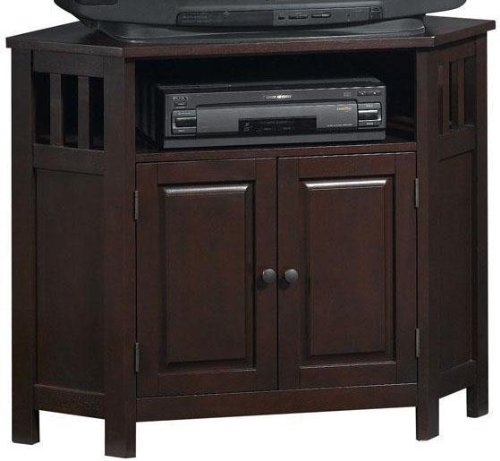 Image of Mission style Corner Tv Stand (B0011TYUUA)