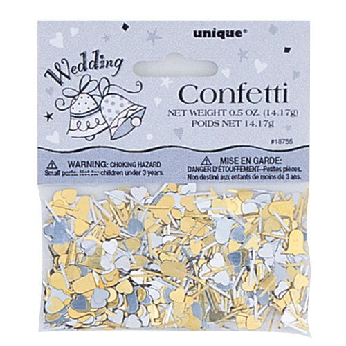 Gold and Silver Wedding Bells Table Confetti