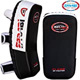 Thai pad, Kick Boxing Punch Pad, kick Strike Shield Made in Rex Leather Black by Farabi