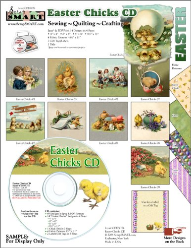 ScrapSMART - Easter Chicks Collection Software - Jpeg & PDF Files (CDESC74) - 1
