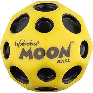 Waboba Moon Mond Ball Extrem Bouncing Verrückt Spinnen Ball - Gelb mit schwarzen Punkten