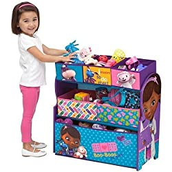 Delta Disney Doc Mc Stuffins Multi Bin Toy Organizer, Blue