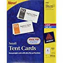 Avery Small Tent Cards, 2 x 3.5 Inches, White,  Box of 160 (5302)