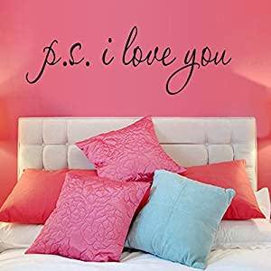 """I Love You"" English Letters Wallpapers for Bedroom Wall Decoration by Mustbe"