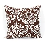 Majestic Home Goods Chocolate and White French Quarter Pillow Large