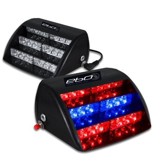 18 Red And Blue Led Law Enforcement Use Strobe Lights For Interior Roof / Dash