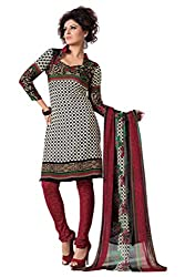 Variation Women's Black Crepe Unstiched Dress Material (VD14295)