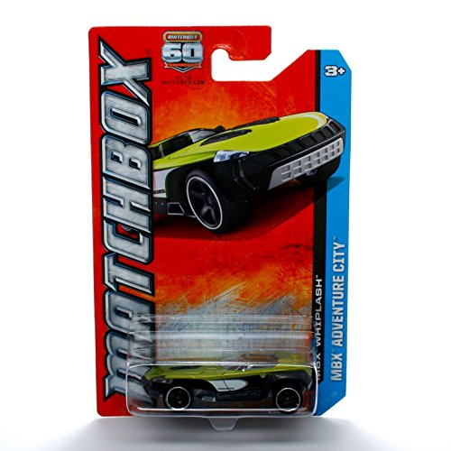 MBX WHIPLASH (Lime Green & Black) * MBX ADVENTURE CITY * 60th Anniversary Matchbox 2013 Basic Die-Cast Vehicle (#23 of 120)