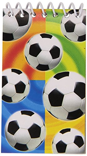 Soccer Notepads (12) Party Supplies