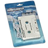 Nexons Cassette Adaptor for iPod CD MP3 Player   White in car technology 