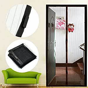 Anti Magnetic Mosquito Bug Fly Pest Magic Curtain Mesh Net Screen Door Black