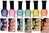 Kleancolor Nail Polish HOLO SET! Lot of 6 Lacquer + Free Earring Gift