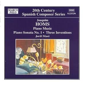 Homs: Piano Sonata No. 1 / Remembrances / Three Envocations