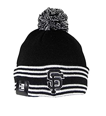 New Era Beanie MLB Sport Knit Headwear San Francisco Giants Men Size Hat Pom Pom