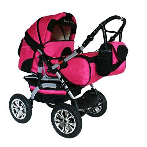 preisvergleich und test kinderwagen kombikinderwagen buggy hartgummmir der szymek lux rosa schwarz. Black Bedroom Furniture Sets. Home Design Ideas
