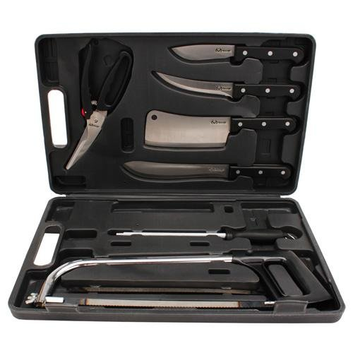 Weston Realtree Game Processing Knife Set (10-Piece), Black