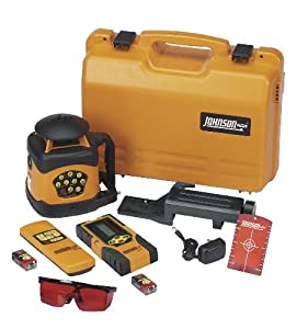 JOHNSON AccuLine Pro 40-6522 Automatic-Leveling Rotary Laser Level with Integral Vertical Mount