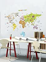 Ambiance Sticker Vinilo Decorativo Giant World Map For Children