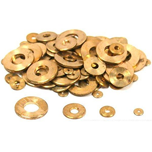 100 Clock Washers Flat Round Clockmaker Repair Parts (Brass Washers For Jewelry compare prices)