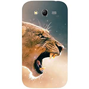 Casotec Angry Lion Pattern Print Design 3D Printed Back Case Cover for Samsung Galaxy Grand Neo