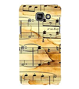 iFasho Animated Pattern design black and white music symbols and lines Back Case Cover for Samsung Galaxy A5 A510 (2016 Edition)