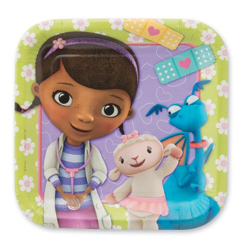 "Disney Doc McStuffins Party 7"" Plates - 8 per Pack"