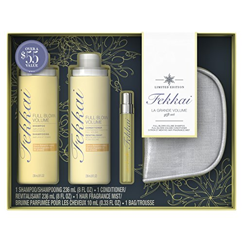 Fekkai Holiday Pack Full Blown Volume Shampoo And Conditioner With Trial Size Fragrance And Bag 8 Oz
